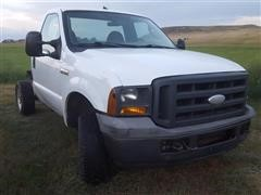 2005 Ford F250 4x4 Cab & Chassis