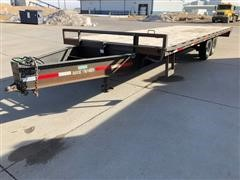 2012 Buck Dandy Bumper Hitch Flatbed Trailer