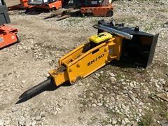 2019 Suihe SH750 Hydraulic Concrete Breaker Skid Steer Attachment