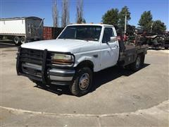 1993 Ford F350 XLT 4X4 Pickup W/Bale Bed