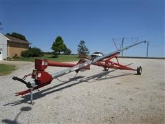 "Hutchinson 8"" X 60' Auger W/Swing Away Hopper"
