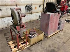 Milwaukee Chop Saw, Tool Boxes & Tools