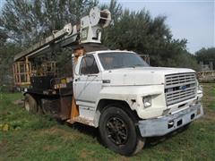 1985 Ford F-800 S/A Boom Truck W/RO Stinger