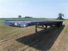 1995 Fruehaf 48' Spread Axle Flatbed Trailer W/9' Flip-Over Hay Extension
