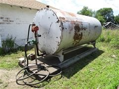 2000 Gallon Fuel Tank W/115V Pump, Nozzle, Hose