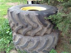 Firestone 600/70R28 Radial All-Terrain Tires/Rims