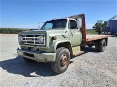 1973 GMC 6000 S/A Flatbed Truck W/Stake Sides