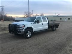 2011 Ford F350 XLT Super Duty 4x4 Crew Cab Flatbed Pickup