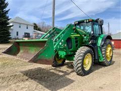 2008 John Deere 7430 Premium MFWD Tractor w/Loader