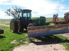 1993 John Deere 4960 MFWD Tractor W/Dozer