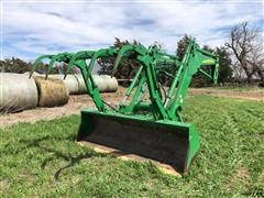 John Deere 843 Loader W/Grapple, 9' Bucket & Grill Guard