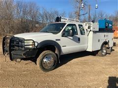 2007 Ford F550 XL Super Duty Extended Cab Mechanics Truck