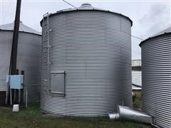(2) Butler 18' Diameter Grain Bins