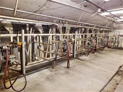 Homemade 10 Stall Milking Station W/Surge Milkers