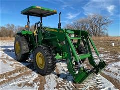 2014 John Deere 5075E MFWD Tractor W/Loader