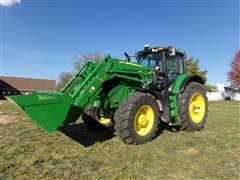 2018 John Deere 6175M MFWD Tractor W/Loader
