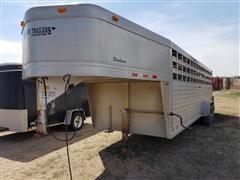 2000 Cherokee 24' 3-Stall T/A Livestock Trailer