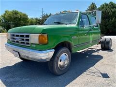 1991 Ford F350 Custom 2WD Crew Cab & Chassis