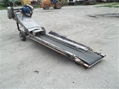 Layco Stainless Steel Roll Under Belt Conveyor Unloading Auger