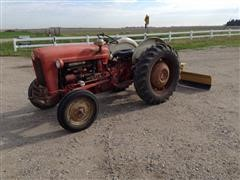 Ford 601 Workmaster Model 641 2WD Tractor W/3-Pt Blade & 40-Gal Boom Sprayer