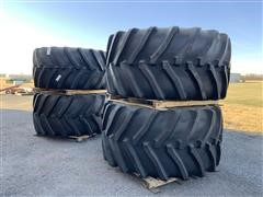 "Goodyear G8MH16GY LSW1100/45R46 Tires On 46"" Steel Rims"
