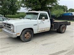 1991 Dodge Ram 350 Flatbed Pickup