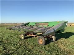 John Deere 643 6R30 Corn Head & Shop Built Cart