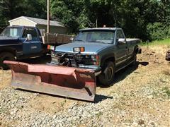 1989 Chevrolet 2500 3/4 Ton Pickup W/8' Snow Plow