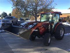 2008 Case IH Farmall 55 MFWD Tractor W/Loader