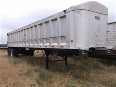 1997 Travis 3926 T/A Aluminum End Dump Trailer