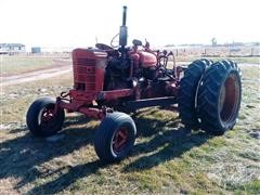 Farmall Super M TA 2WD Tractor W/Sweep/Bale Mover