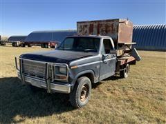 1984 Ford F250 4x4 Flatbed Pickup W/Feed Box