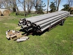 "Lindsay 6"" X 30' Mainline Pipe W/Pipe Trailer"