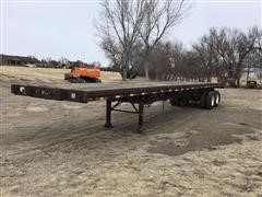 1987 Fontaine T/A Extendable Flatbed Trailer