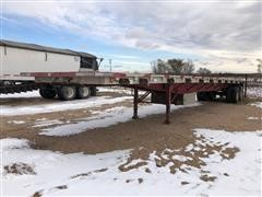 1990 Wilson Road Brute 45' T/A Flatbed Trailer