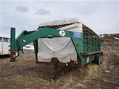 1991 Gooseneck 7'x20' Canvas Top T/A Livestock Trailer