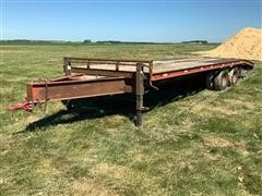 1997 H&H UF262 T/A Flatbed Trailer