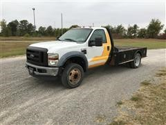 2010 Ford F450 Super Duty Flatbed Pickup