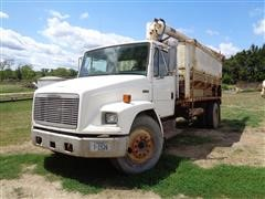 1993 Freightliner FL70 Bulk Feed Truck Smeal 4 Compartment Feed Box