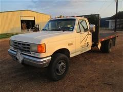 1991 Ford F-450 Sd Flatbed Truck