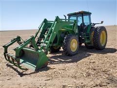 1999 John Deere 8400 MFWD Tractor W/Loader
