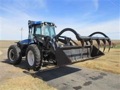 2009 New Holland TV6070 4WD Tractor W/ 84LB Loader