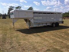 Shopmade T/A 20'X6' Gooseneck Livestock Trailer