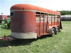 1976 Travalong 16' T/A Livestock Trailer W/bumper Hitch