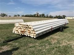 """PVC 8"""" Gated Irrigation Pipe & Trailer"""