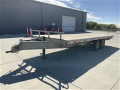 2010 S&W 20' T/A Flatbed Deckover Trailer