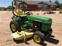 John Deere 855 Compact Utility Tractor W Mowing Deck Attachment