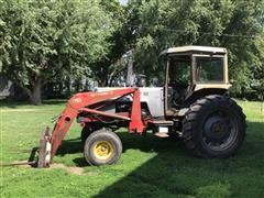 1975 White 2-105 Field Boss 2WD Tractor & Loader