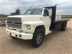 1990 Ford F700 Flatbed Dump Truck