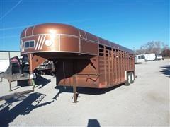 1983 Kiefer Built Gooseneck T/A Livestock Trailer